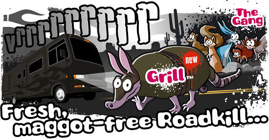 Fresh, maggot-free roadkill...